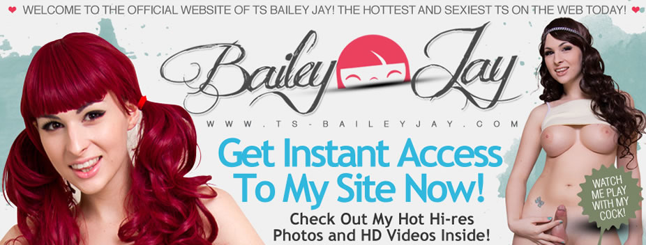 Naughty Shemale Bailey Jay - Solo Porn Pics