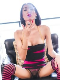 smoking asian tranny Om in fetish porn gallery